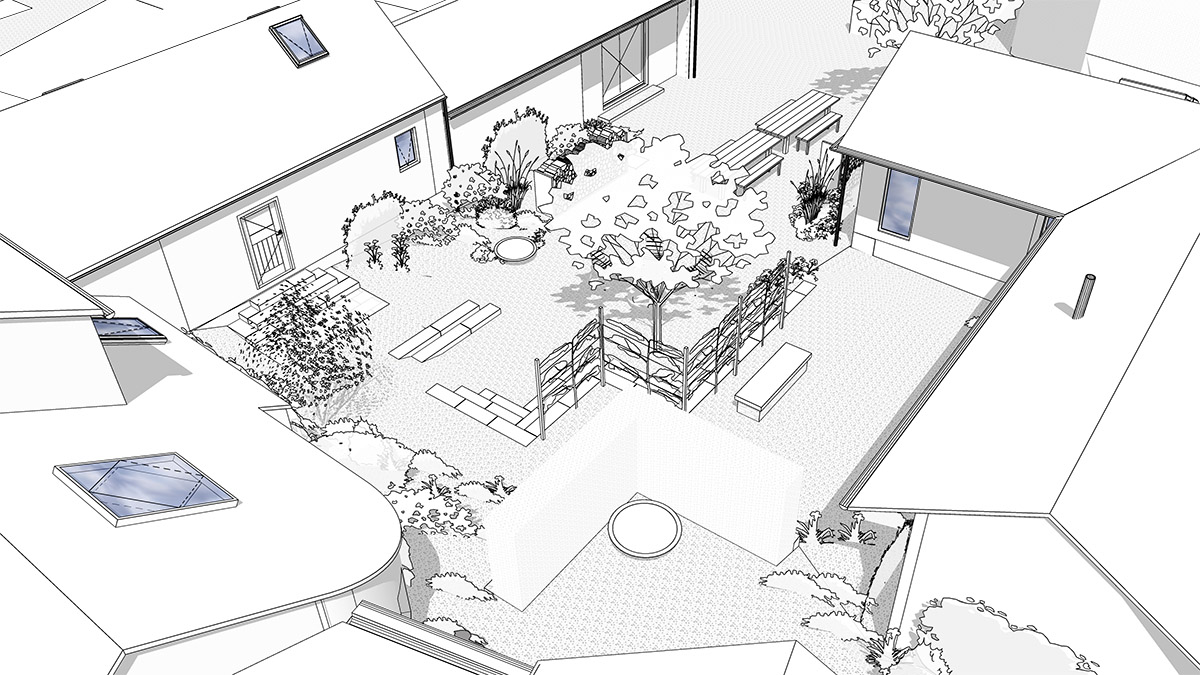 Concept masterplan for a luxury holiday cottage barn conversion